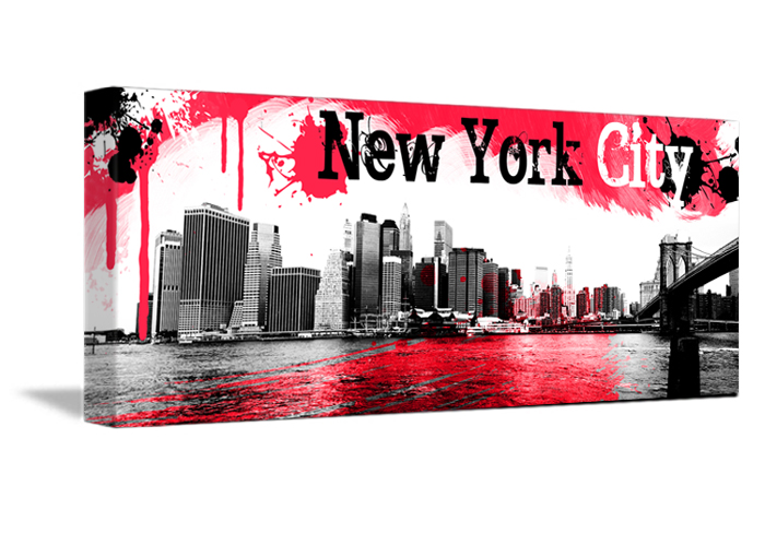 Une toile d co rouge pour sublimer new york - Deco murale new york ...