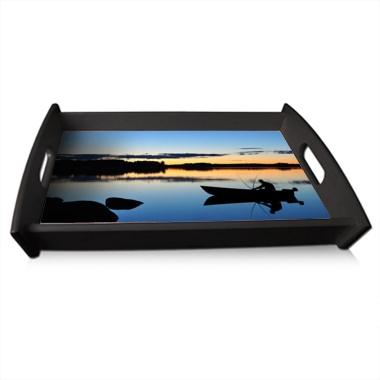 plateau repas personnalis laqu noir 30x42cm a680 tableau sp cialiste du. Black Bedroom Furniture Sets. Home Design Ideas