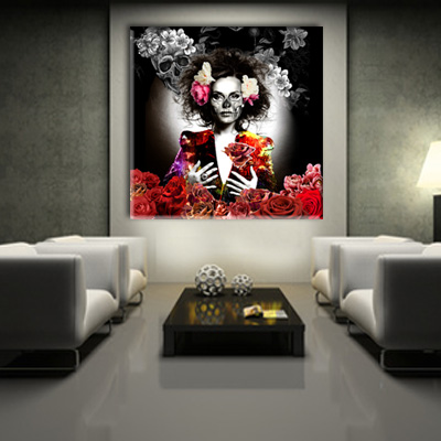 tableau de d coration ambiance skull. Black Bedroom Furniture Sets. Home Design Ideas