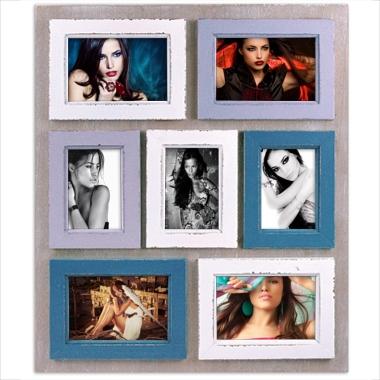 cadre p le m le 7 photos 10x15cm comprises wissant a592 tableau sp cialiste. Black Bedroom Furniture Sets. Home Design Ideas